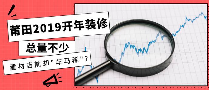 """莆田2019开年装修开工总量不少,建材店前却""""车马稀""""?"""